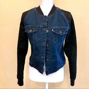 Levi's 2-Toned Slightly Cropped Jean Jacket Size M